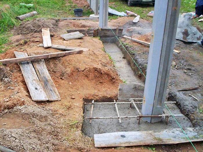 Марка бетона для фундамента забора